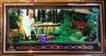 Tranh lịch vạn niên-Bác Hồ ngồi làm việc trong phủ chủ tịch-MS617