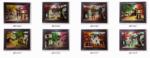 8 mẫu tranh sơn mài ,phố cổ – SM223