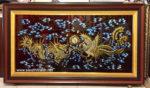 Tranh sơn mài đắp nổi vác vàng ,Long Phụng -SM294