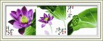 Mẫu thêu chữ thập -Hoa sen (in100%)