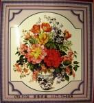 Tranh thêu chữ thập-bình hoa-cyh9336