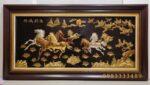 Tranh đồng mạ vàng bạc 24k- Mã đáo thành công -A108s