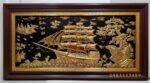 Tranh đồng mạ vàng 24k, Thuận buồm xuôi gió- A114