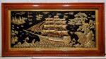 Thuận buồm xuôi gió – Tranh đồng mạ vàng 24k khung gỗ dổi -A114g