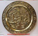 Mâm đồng vàng liền tấm chạm khảm nổi – Xuân Hạ Thu Đông ( Tùng Cúc Trúc Mai) A218