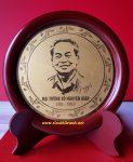Tranh đĩa để bàn Đại Tướng Võ Nguyên Giáp-QT09