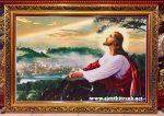 Chúa Giesu cầu nguyện -C10 (tranh in dầu)
