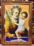 Thánh giuse bồng chúa ( tranh in dầu C14)