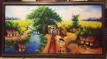 Tranh in dầu canvas, Cây đa cổng làng – CA02