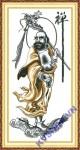 mẫu thêu chữ thập-Đạt ma sư tổ-ya976