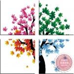 Cây bốn mùa bình an-mẫu thêu-yh352