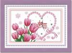 Mẫu đồng hồ hoa tulip ,in 100%