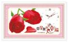 Mẫu thêu hoa hồng đỏ in 100%