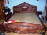 Giường gỗ tràm chạm tứ quý