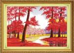 Rừng lá đỏ (tranh thêu chữ thập)F0451