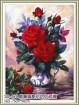 Tranh thêu bình hoa hồng YA622