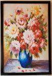 9 mẫu tranh tĩnh vật bình hoa Hồng-IN140