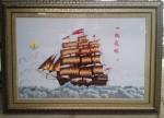 Tranh thêu tay-Thuận buồm xuôi gió-t213