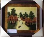 Tranh thêu tay-miền quê sông nước-t251