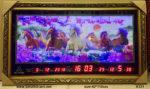 Tranh điêu khắc đèn led lịch vạn niên ,Bát mã toàn đồ -K121 – 122