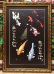 Tranh cá côi chữ lộc – L20