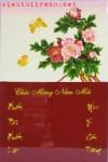 Tranh lốc lịch sơn mài-hoa mẫu đơn-L21
