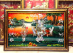 Mừng Thọ Ông ( tranh sơn mài khảm trai M059 )