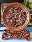 Đĩa gỗ bày bàn – Tứ Linh – Long Lân Quy Phượng -QT24