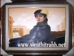 Người đàn bà xa lạ-tranh sơn dầu-s34