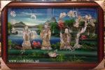 Phúc Lộc Thọ, sơn mài khảm trai- SM183