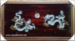 Sơn mài khảm trai song long trầu nguyệt-SM207