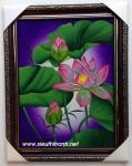Tranh sơn mài nghệ thuật hoa sen-sm211