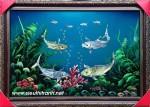Tranh sơn mài đàn cá chép-sm199