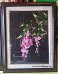 Tranh thêu tay,Hoa lan T012