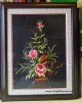 Tranh thêu tay-Hoa hồng-T022