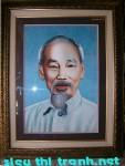 Tranh thêu tay-chân dung Bác Hồ-t030