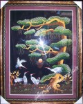 Tranh thêu tay-Tùng Hạc Diên Niên-t037