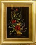 Tranh thêu tay-hoa hồng-t155