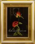 Tranh thêu tay-cặp hồng tình yêu-t159