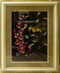 Tranh thêu tay-khóm lan rừng-t167