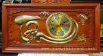 Tranh đồng hồ gỗ hương đục nổi giác vàng- Chữ TÂM-tg276
