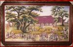 Tranh đá quý, Chợ quê ngày xưa-TD030