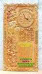 Tranh đốc lịch thư pháp gỗ gõ đỏ Vợ Chồng -TG011