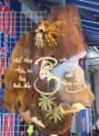 Tranh thư pháp gỗ Hương, Tâm – TG018