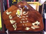 Tranh gỗ hương thư pháp chữ Đức- TG066