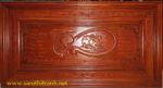 Tranh gỗ hương đỏ, Chữ Tâm -TG142