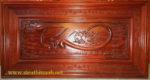 Tranh gỗ hương đỏ, Chữ Tín -TG144