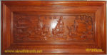 Tranh gỗ hương đỏ, PHÚC LỘC THỌ – TG145