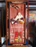 Tranh gỗ đốc lịch, Phật Di Lặc -TG177