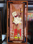 Tranh đốc lịch gỗ hoa hồng -TG180